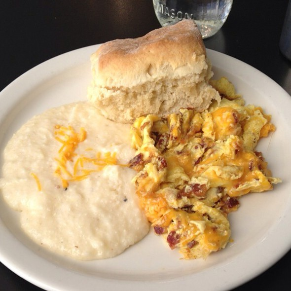 Bacon Egg And Cheese Scrambler @ Mama's Boy Restaurant