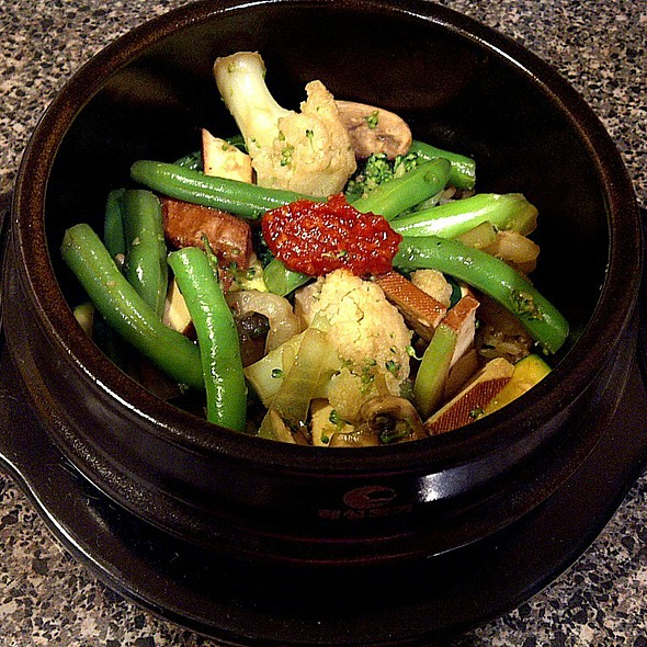Marinated Bean Curd, Vegetables & Brown Rice Clay Pot @ (a)(u)(d)'(s)