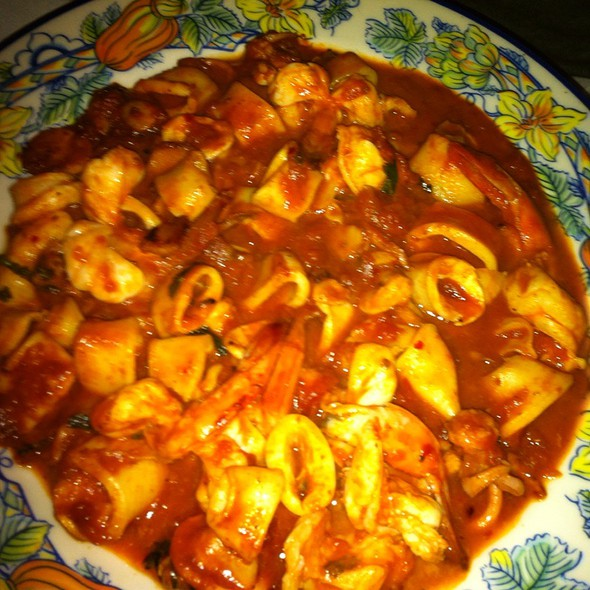 Spicy Shrimp Diavolo - Tosca Cafe, New York, NY