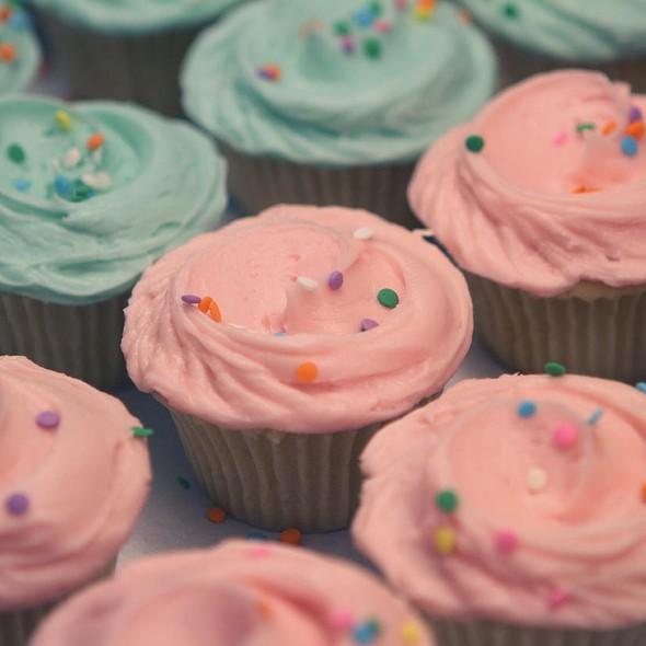 Confetti Vanilla Cupcakes