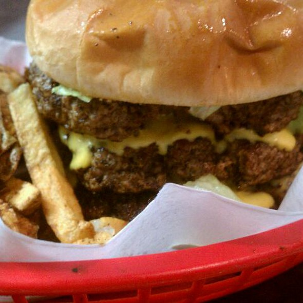 1 1/2 pound burger and fries @ Lord's Kitchen