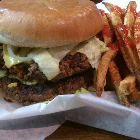 1/2 pound burger and fries @ Lord's Kitchen