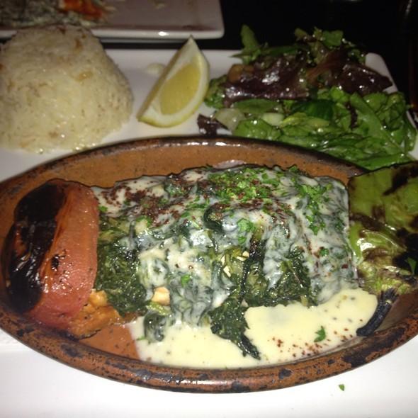 Stuffed Salmon & roasted Veggies - Tuba Restaurant, San Francisco, CA