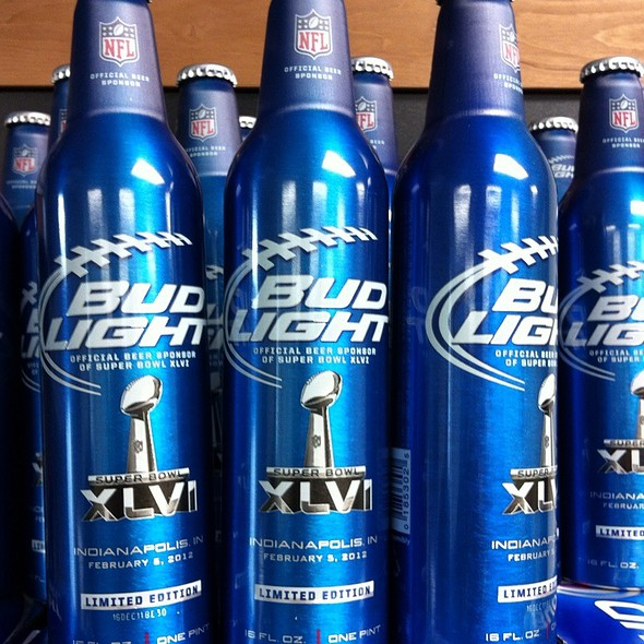 Limited Edition Bud Light Aluminum Bottles #Superbowl46 @ Jd's Smokehouse Bar & Grill Inc