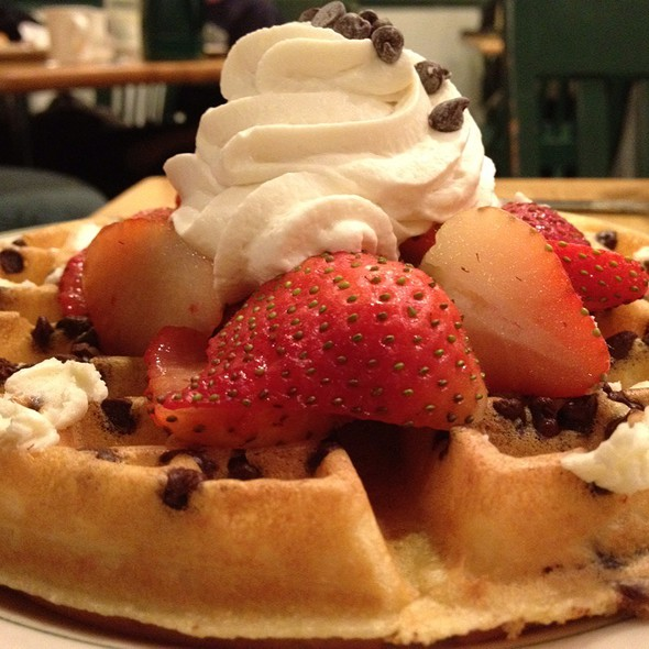 Chocolate Chip Strawberry Waffle @ Magnolia Pancake Haus
