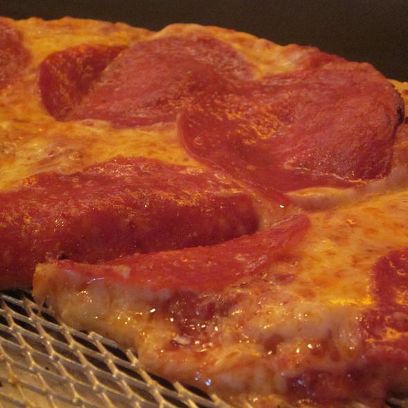 Jumbo Pepperoni Pizza @ The Lucky Monk