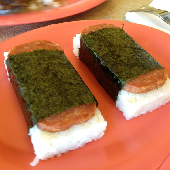spam musubi @ Hawaiian BBQ Drive Inn