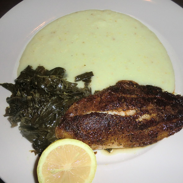 Grilled catfish and grits - Blue Marlin, Columbia, SC