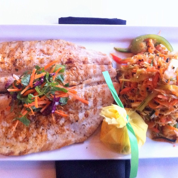 Grilled Idaho Farms Rainbow Trout & Hot Sesame Ginger Vegetable Slaw @ Tavern On Rush