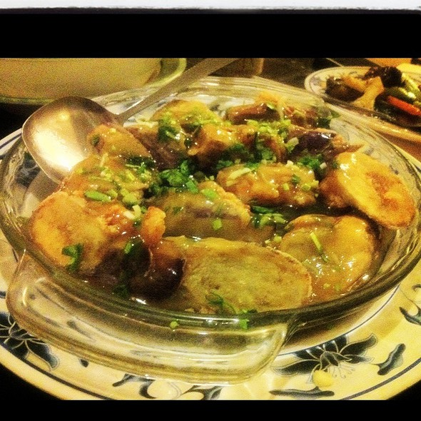 eggplant stuffed with shrimp @ Chon Saan Palace Chinese Restaurant