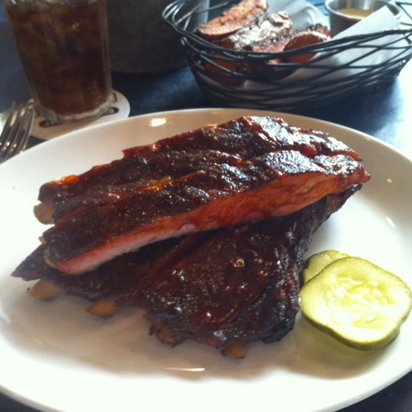 Smoked Pork Ribs and Sweet Potato Fries @ Blue Smoke