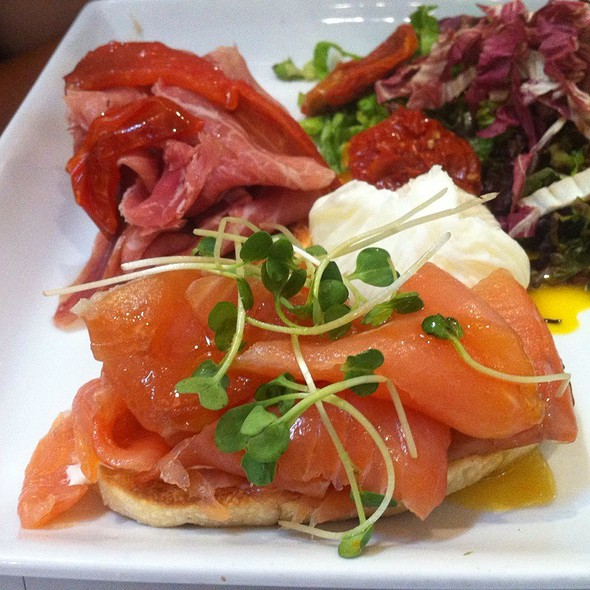 Smoked Salmon Buscheta With Passion Fruit Dressing @ Francesca Café