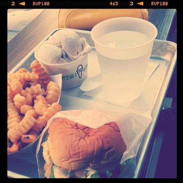Cheese Burger, Fries And Custard @ Shake Shack