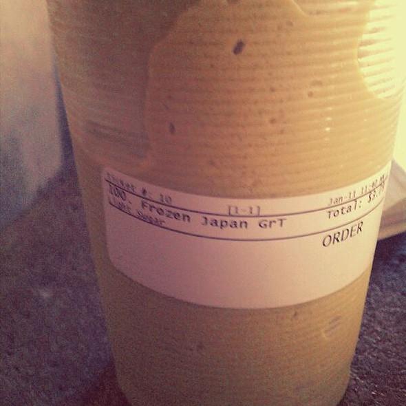 Japanese Frozen Green Tea @ Teahouse & Coffee