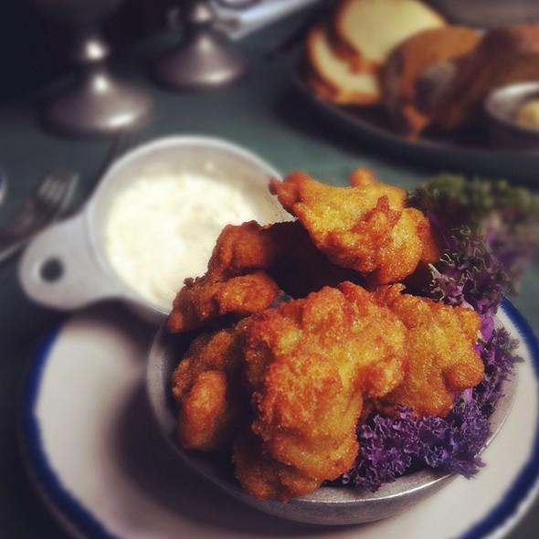 Giant Cornmeal Fried Oysters - City Tavern, Philadelphia, PA