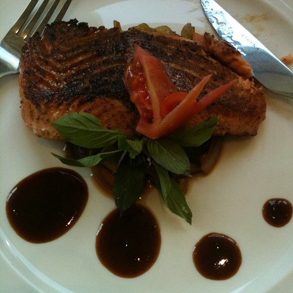 Salmon Steak With Black Pepper @ Mahanaga Restaurant