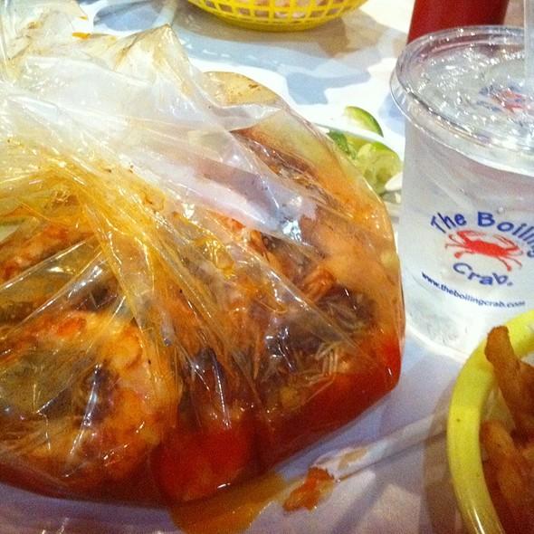 Boiled shrimp @ Boiling Crab The