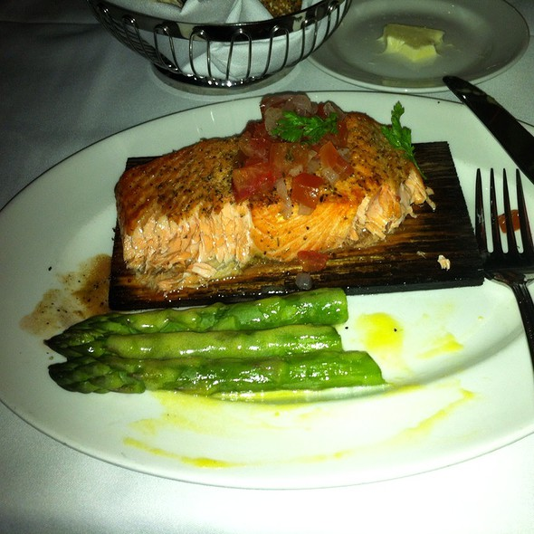 Cedar Planked Salmon with Tomato Fennel Relish @ The Capital Grille