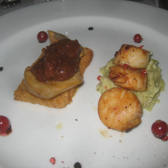 Foie Gras and scallops @ Gourmet Nights with Chef Papa Mick