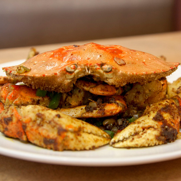 Dry Fried Curry Dungeness Crab  @ James on Hastings Chinese Restaurant