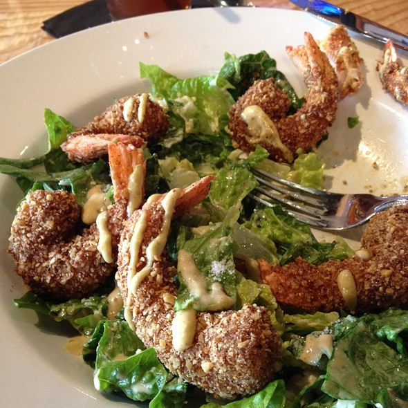 Tortilla Crusted Shrimp Caesar Salad @ Chisos Grill