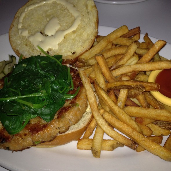 Salmon burger - LITM, Jersey City, NJ