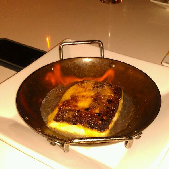 Flaming Cheese @ Tarla Mediterranean Grill
