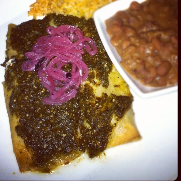 Pork Enchiladas Verdes @ Milagro Modern Mexican