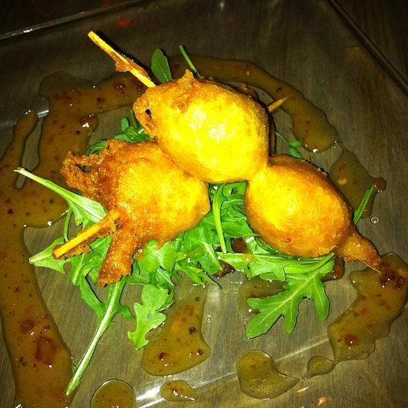 Chevre Stuffed Peppadew Peppers Over Arugula @ Metropolitan Cafe Shelby Twp Mi