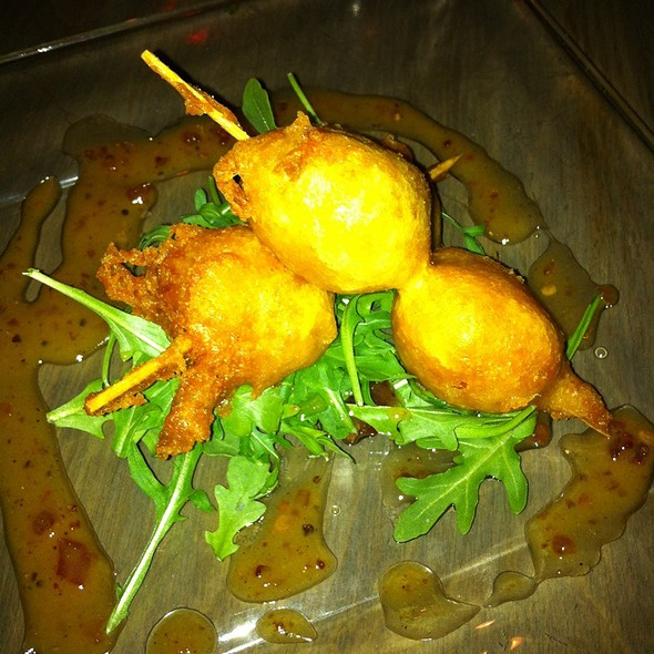 Chevre Stuffed Peppadew Peppers Over Arugula @ Metropolitan Cafe Shelby Twp Mi
