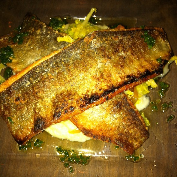 Rainbow Trout Over Braised Cabbage And Apples