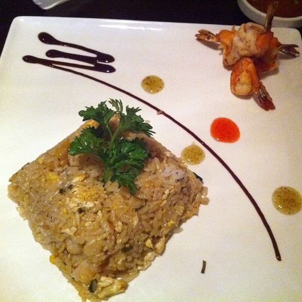 Basil Mango Shrimp Fried Rice @ Fujiyama Japanese Steak & Sushi