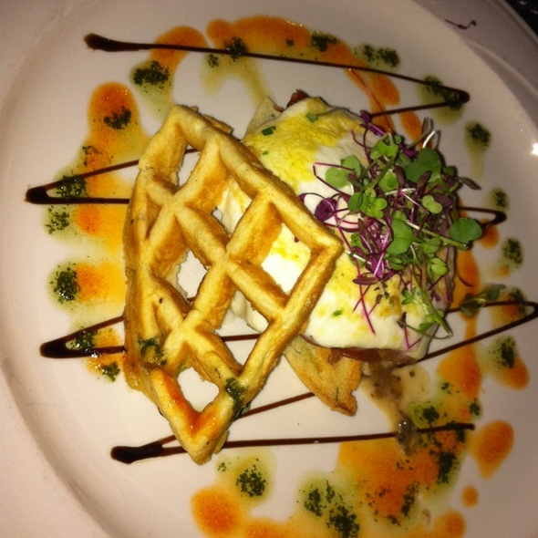 Sweet Onion Waffle And Warm Mozzarella