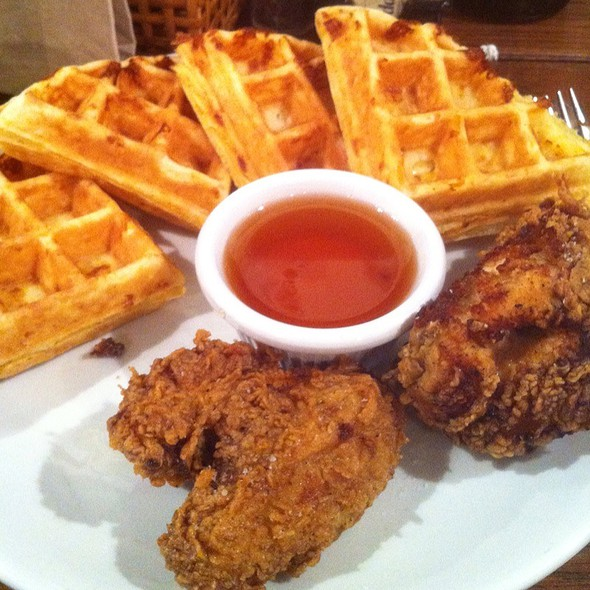Fried Chicken With Cheddar Waffle @ Friedmans Lunch