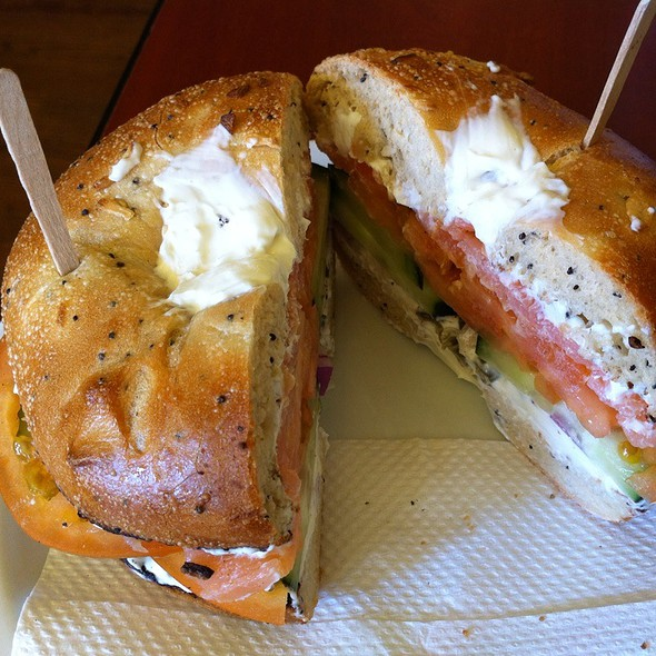 Salmon Bagle @ Nervous Dog Coffee
