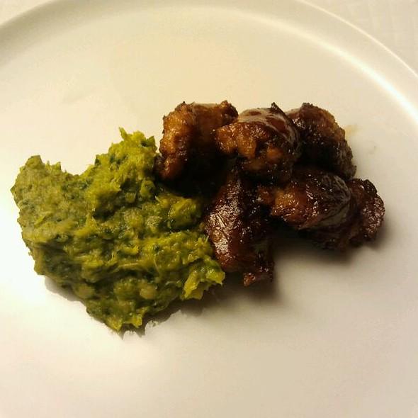 Istrian Sausages with Mashed Savoy Cabbage  @ Restaurant Milan