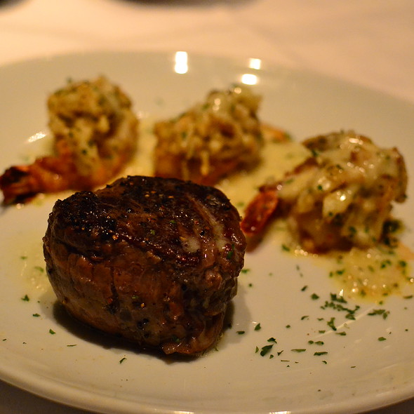 Filet Mignon and Shrimp @ Fleming's Prime Steakhouse & Wine Bar