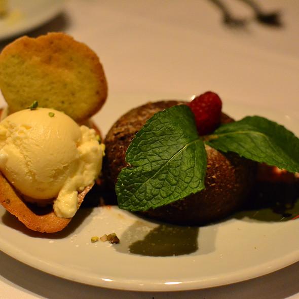 Chocolate Lava Cake with Vanilla Ice Cream - Fleming's Steakhouse - Richmond