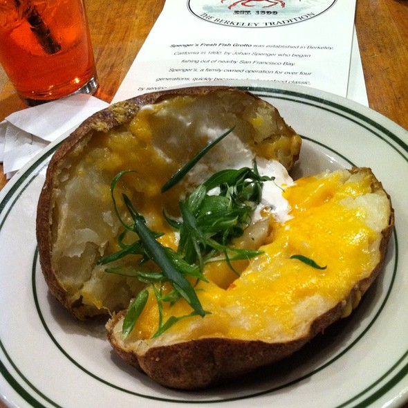 loaded baked potato @ Spenger's Fresh Fish Grotto