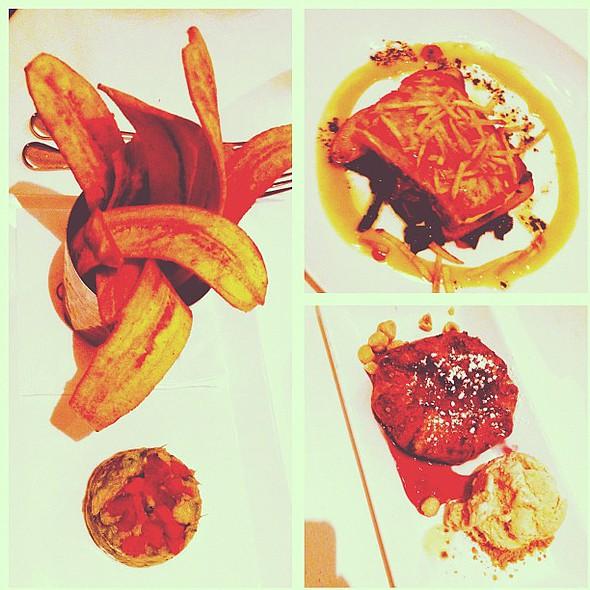 15/366 my picks for #dcrestaurantweek @chefgeoffs: plantain chips with guacamole, mustard salmon, pear crostada with hazelnut ice cream. #photooftheday #instagram366 #366 porn @ Chef Geoff's Tysons