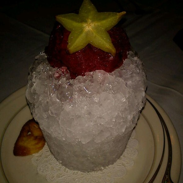 blueberry sorbet @ Tersiguel's French Country Restaurant