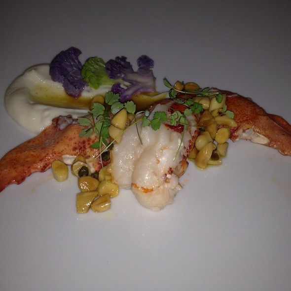 Poached Lobster With Brown Butter Sauce @ 701 Restaurant