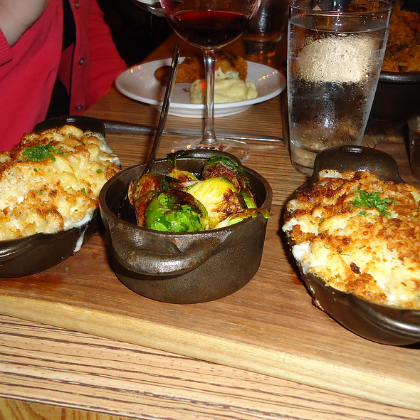 roasted brussel sprouts and mac n cheese @ Art and Soul Restaurant