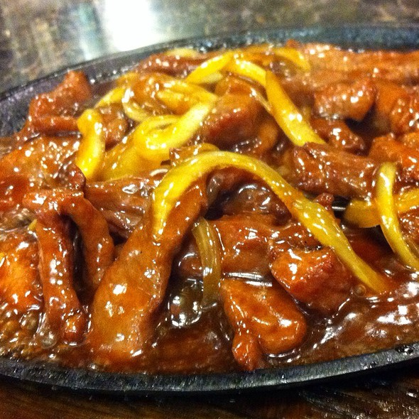 Sizzling Mongolian Beef @ chi cafe