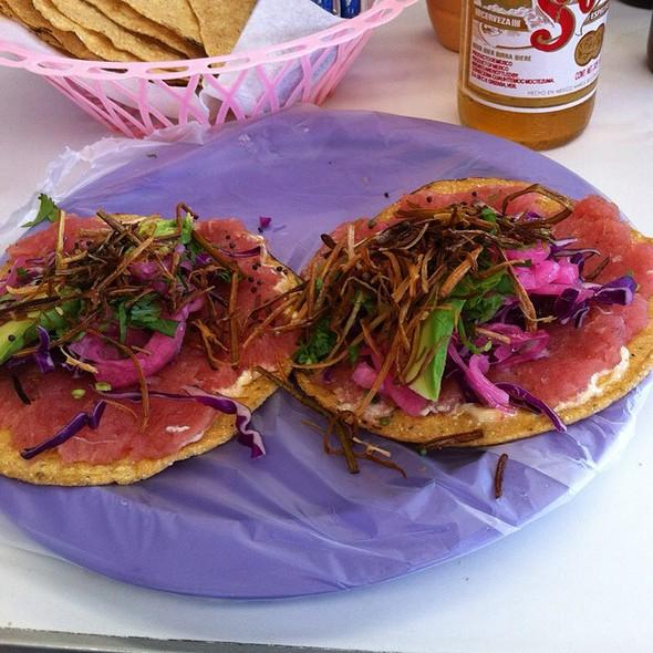 Fresh Tuna Tostada @ Los Aguachiles