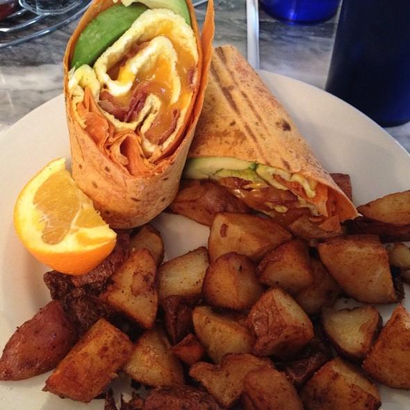 Egg, Bacon, Cheese & Avocado Wrap @ Chestnut Cafe & Eatery