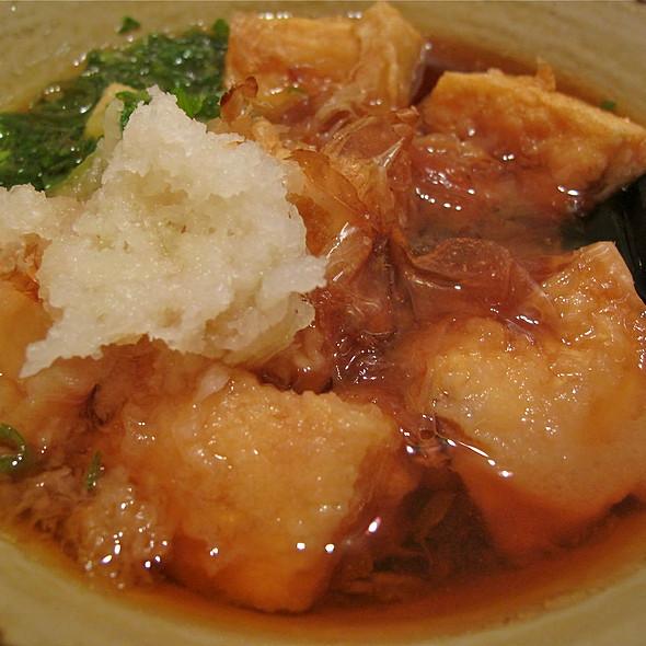 Fried Tofu W Dipping Sauce @ Hotaru Japanese Restaurant