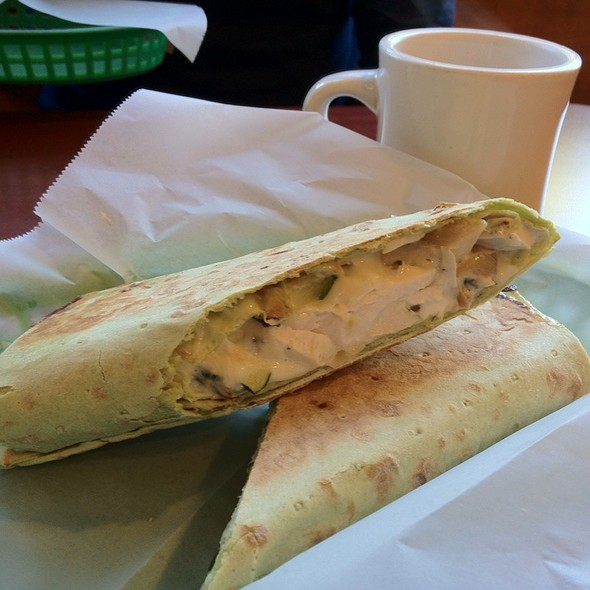 Grilled Chicken Spinach Lavash Wrap @ Progressive Grounds