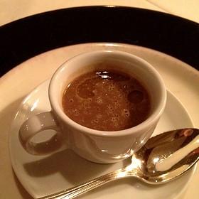 Black Garlic & Lentil Soup Amuse Bouche