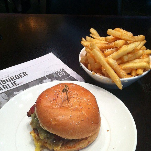 The Double Cheese And Bacon With Parmesan And Truffle Fries